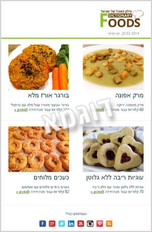 הניוזלטר החדש של FoodsDictionary